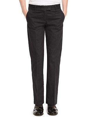 Pure Cotton Girls' Skin Kind™ Trousers, GREY, catlanding