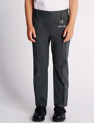 Hello Kitty Girls' Crease Resistant Slim Leg Trousers with Stormwear™, GREY, catlanding