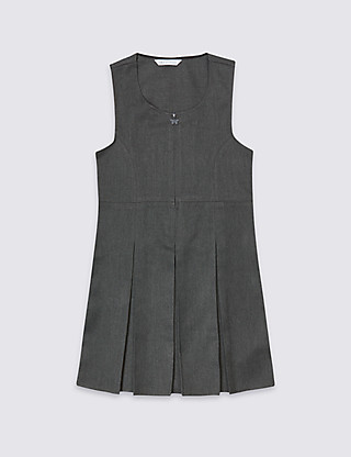 Girls' Traditional Pinafore with Permanent Pleats with Triple Action Stormwear™ Clothing