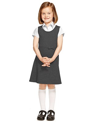 Pure Cotton Stay Soft Knitted Pinafore with StayNEW™, GREY, catlanding