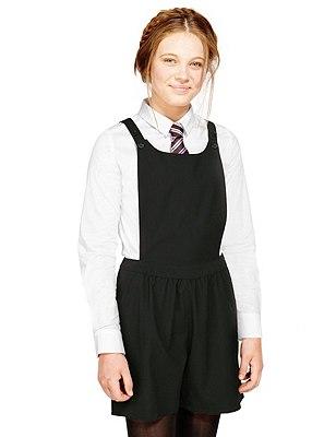 Senior Girls' Playsuit, BLACK, catlanding