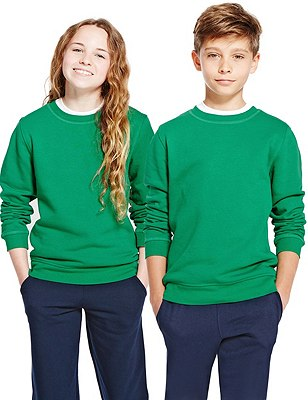 Unisex Cotton Rich Sweatshirt, EMERALD, catlanding