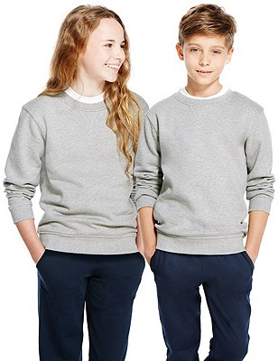 Unisex Cotton Rich Sweatshirt, GREY, catlanding