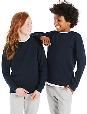 Ribbed Sweatshirt (3-16 Years), NAVY, catlanding