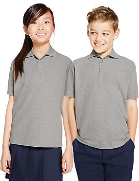2 Pack Unisex Pure Cotton Polo Shirts, GREY, catlanding