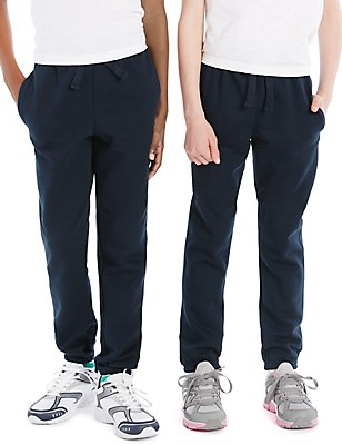 Unisex Cotton Rich Joggers with StayNEW™, NAVY, catlanding