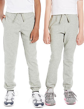 Unisex Cotton Rich Joggers with StayNEW™, GREY MARL, catlanding