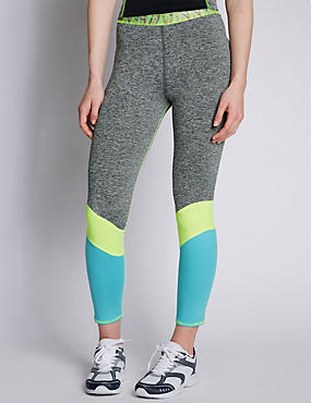 Colour Block Sports Leggings with Cool Comfort™ Technology, GREY MIX, catlanding