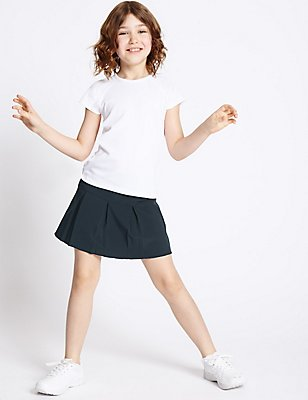 Girls' Performance Skorts, DARK NAVY, catlanding