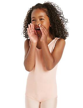 Justaucorps de danse en coton sans manches, ROSE, catlanding