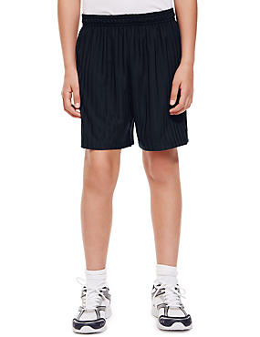 Striped Football Shorts with Active Sport™, NAVY, catlanding