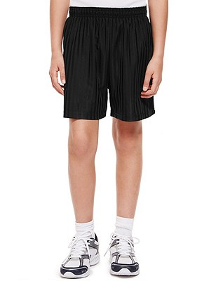 Striped Football Shorts with Active Sport™, BLACK, catlanding