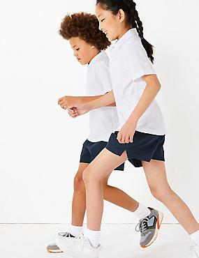 2er-Pack Unisex-Shorts aus reiner Baumwolle, MARINEBLAU DUNKEL, catlanding