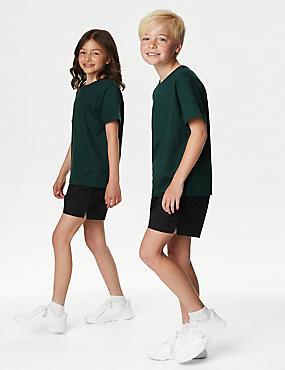 Pack de 2 pantalones cortos 100% algodón unisex, NEGRO, catlanding