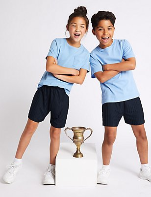 Boys' Football Shorts, DARK NAVY, catlanding