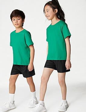Pantalón corto de fútbol para chicos, NEGRO, catlanding