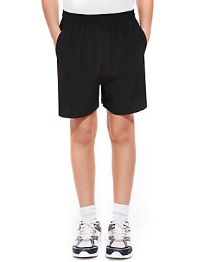 Boys' Sport Shorts with Active Sport™, BLACK, catlanding