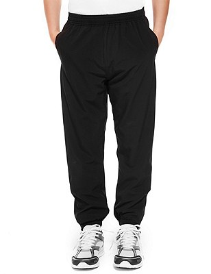 Boys' Lined Track Pants, BLACK, catlanding