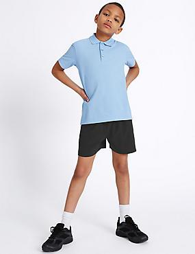 Performance-Shorts für Jungen, SCHWARZ, catlanding