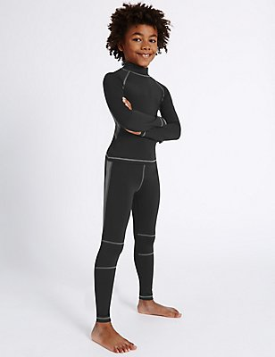 Boys' Leggings with Active Sport™, BLACK, catlanding