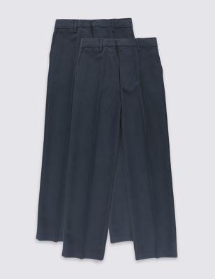 Школьные брюки с регулируемым поясом и технологиями Crease Resistance & Stormwear+™ (2 пары)