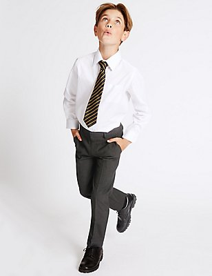 2 Pack Boys' Slim Leg Trousers, CHARCOAL, catlanding