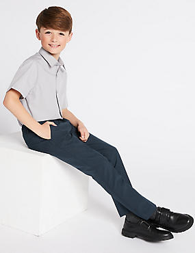 2 Pack Boys' Skinny Leg Trousers, NAVY, catlanding