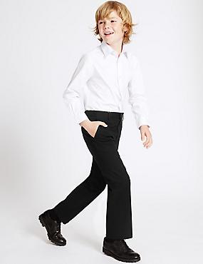 Pantalon garçon 100% coton, doté de la technologie Skin Kind™, NOIR, catlanding