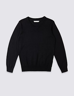 Outstanding Value Unisex Pure Cotton Jumper with StayNEW™ , NAVY, catlanding