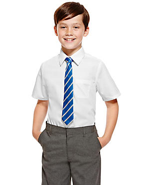 2 Pack Boys' Ultimate Non-Iron Shirts, WHITE, catlanding
