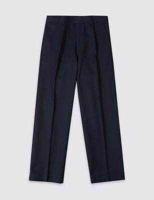Классические школьные брюки прямого кроя с технологиями Supercrease™ Crease Resistance & Stormwear+™ от Marks & Spencer