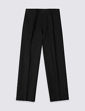 Boys' Longer Length Supercrease™ Adjustable Waist Straight Leg Trousers with Triple Action Stormwear™