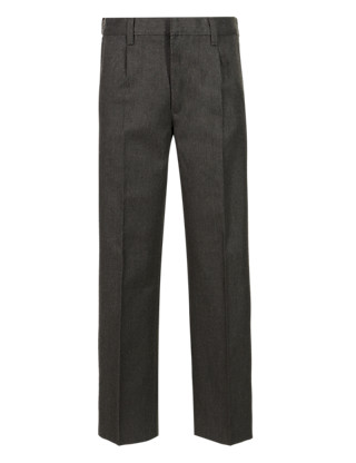 Boys' Pleat Front Supercrease™ Trousers in Shorter & Longer Lengths with Stormwear+™ Clothing