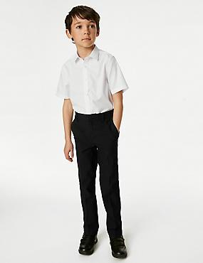 PLUS Boys' Regular Leg Trousers, BLACK, catlanding