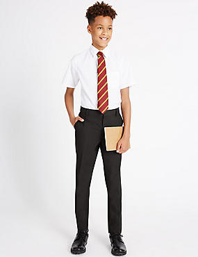 Senior Boys' Skinny Leg Trousers, CHARCOAL, catlanding