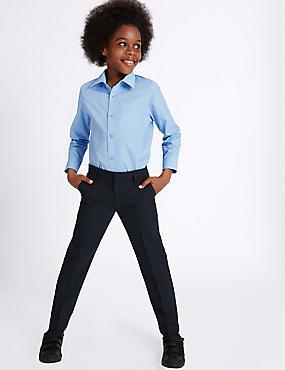 Senior Boys' Skinny Leg Trousers, NAVY, catlanding
