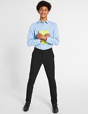 Senior Boys' Super Skinny Leg Trousers, BLACK, catlanding