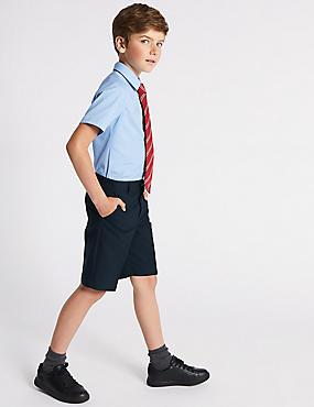 2er-Pack Shorts mit geradem Bein für Jungen, MARINEBLAU, catlanding