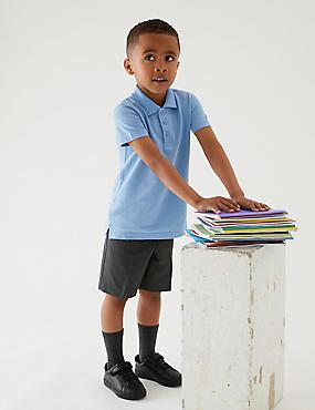 2er-Pack Shorts mit geradem Bein für Jungen, GRAU, catlanding