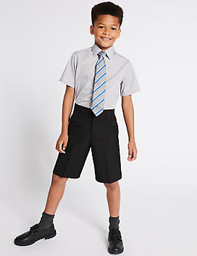 2er-Pack Shorts mit geradem Bein für Jungen, DUNKELGRAU, catlanding
