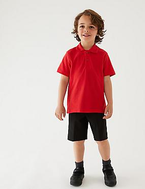 2er-Pack Shorts mit geradem Bein für Jungen, SCHWARZ, catlanding