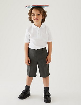 2 Pack Boys' Easy Dressing Shorts, GREY, catlanding