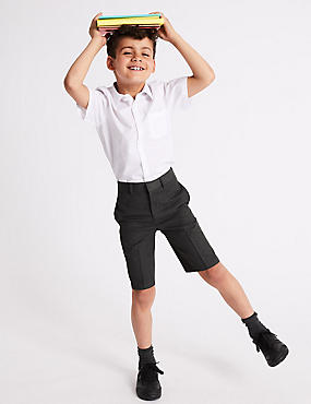 Boys' Slim Fit Shorts, GREY, catlanding