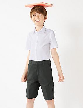 Boys' Skin Kind™ Pure Cotton Shorts , GREY, catlanding