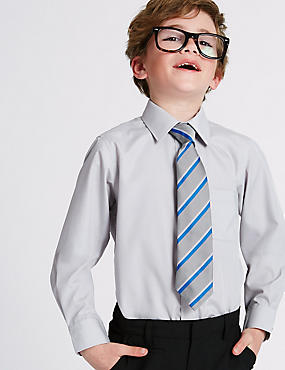 2er-Pack bügelfreie Hemden für Jungen, GRAU, catlanding