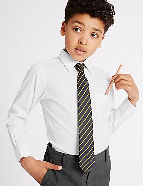 2 Pack Boys' Non-Iron Shirts, WHITE, catlanding