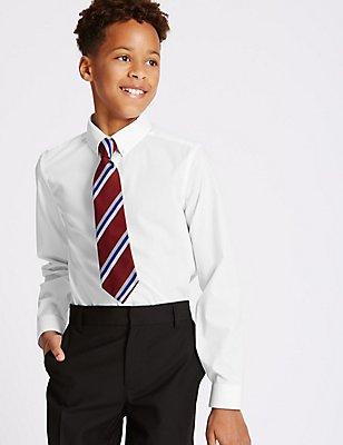 2 Pack Senior Boys' Skinny Fit Shirts, WHITE, catlanding
