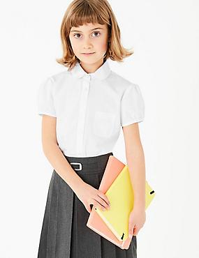 Junior 2 Pack Girls' Embroidered Blouses, WHITE, catlanding