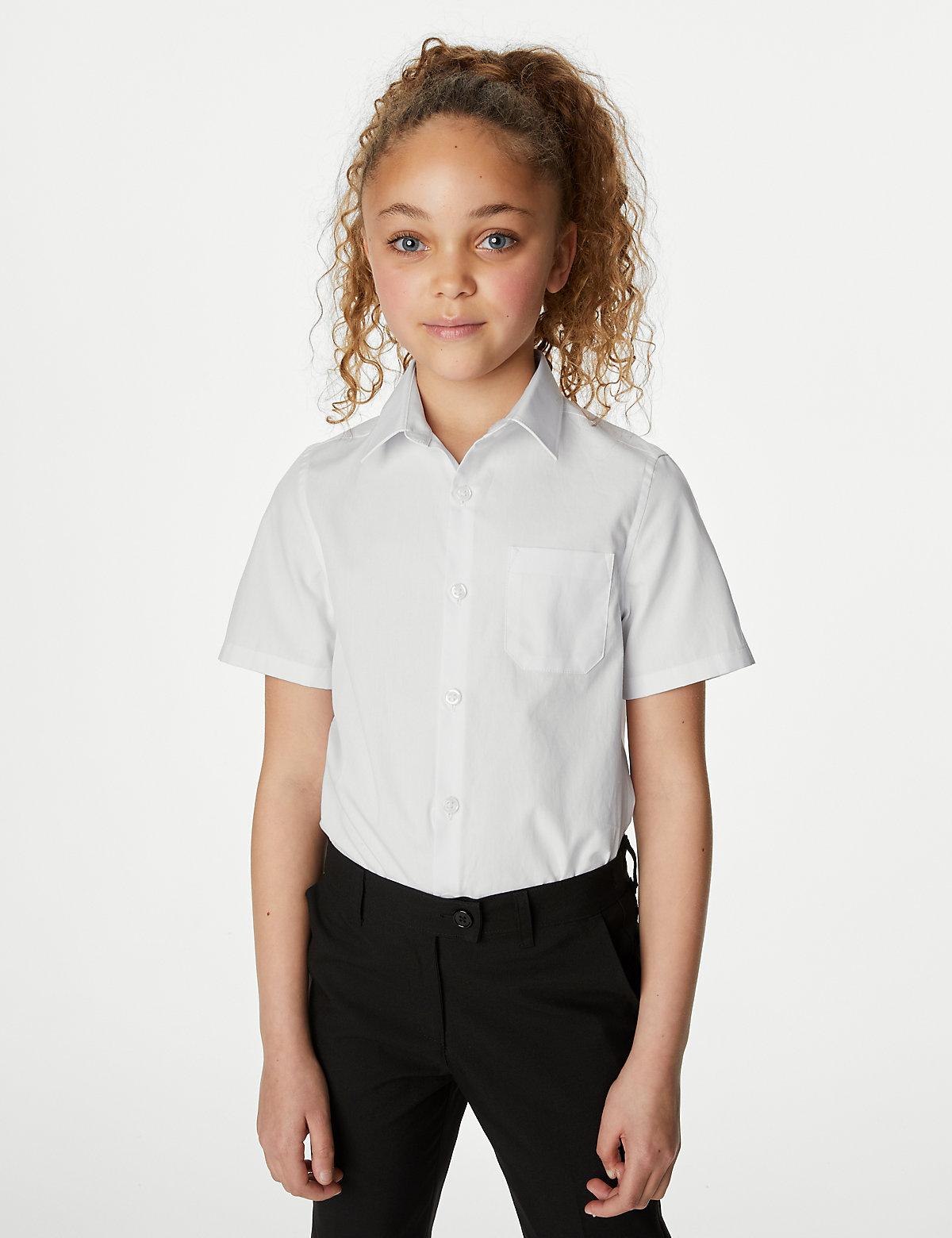 Облегающая школьная блузка из чистого хлопка (2 шт)