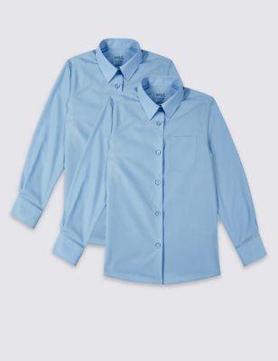 Школьная блузка с длинным рукавом с технологиями Ultimate Non-Iron и Stain Away™ (2 шт)